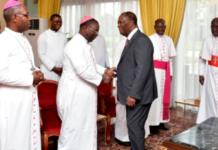 Cote d'ivoire, église, Alassane Ouattara, élection présidentielle, 3e mandat