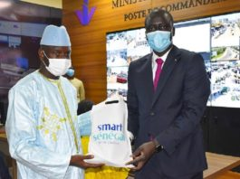 Projet Safe City: Aly Ngouille Ndiaye, le Ministre de l'Intérieur a visité le poste de commandement de Dakar