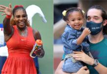 Serena Williams est acclamée par son mari Alexis Ohanian et sa fille Olympia à l'US Open, alors qu'elle bat Sloane Stephens (photos)