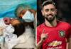 Milieu de terrain de Manchester United, Bruno Fernandes annonce la naissance de son deuxième enfant (photos)