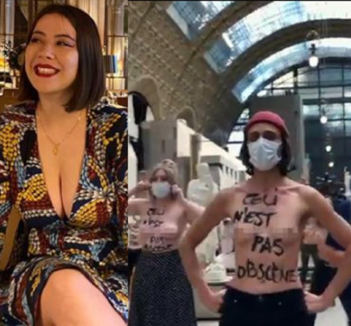 Des féministes posent topless pour protester après qu'une femme s'est vu refuser l'entrée au musée pour `` décolleté '' (photos / vidéo)