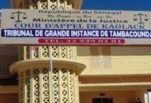 Tamba: Condamnation des 5 jeunes qui avaient saccagé la demeure du sous-préfet