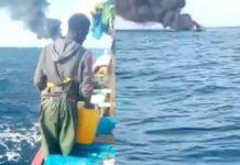 Explosion d'une pirogue en mer: 5 personnes portées disparues