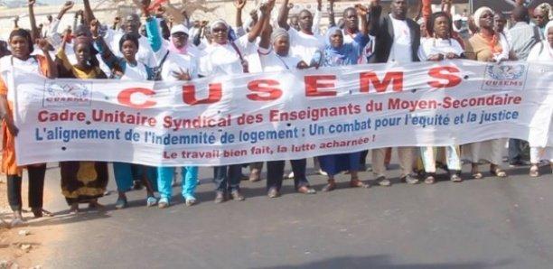 Cusems : Guédiawaye, Pikine, Dakar et Rufisque, débrayage mardi et grève totale mercredi