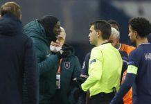 Ousmane Ndoye réconcilie Demba Ba et l'arbitre du match PSG-Basaksehir