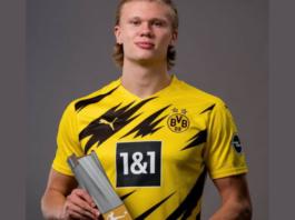 Bundesliga : Erling Haaland élu meilleur joueur de la saison